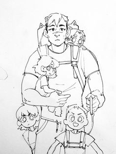 wherein Allura is a young CEO of a powerful company and Shiro is a single dad of… Form Voltron, Voltron Klance, Voltron Memes, Voltron Fanart, Space Cat, Space Kids, Artist Alley, Kid Poses, Allura
