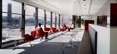 SJ Berwin Offices - Brand Colors on Swan Chairs; Low Profile/High Back Bench