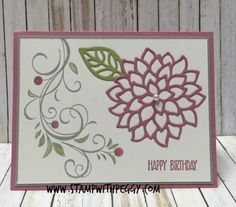 Falling Flowers Stamp Set, May Flowers Framelit, Sweet Sugarplum, www.stampwithpeggy.com