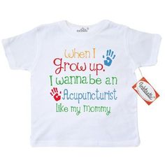 Inktastic Acupuncturist Like Mommy Toddler T-Shirt Child's Kids Baby Gift Acupuncturist's Daughter Childs My Cute Occupation Apparel Job Future Handprints Tees. Child Preschooler Kid Clothing Hws, Size: 4T, White