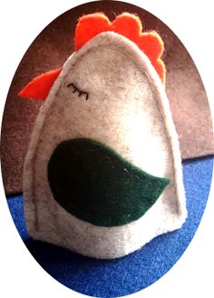 Chicken egg warmer made by me from felt :)