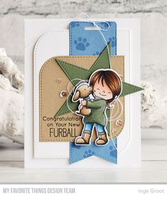 Product Spotlight: Stitched Mod Shapes Die-namics (My Favorite Things) Kids Stamps, Mft Stamps, Dog Cards, Kids Cards, Friendship Day Cards, Mini Albums, Animal Cards, Scrapbooking, Card Sketches