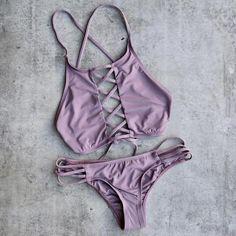 venice high neck crop bikini separates - more colors – shophearts Cute Swimsuits, Women Swimsuits, Hot Bikini, Bikini Swimwear, Bikini Set, Trendy Outfits, Bathing Suits, Beachwear, Separates