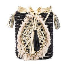 Antik Batik Jesa Pouch ($220) ❤ liked on Polyvore featuring bags, handbags, clutches, handbags purses, purse pouch, tassel handbag, fringe purse and pouch purse