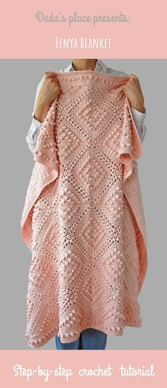 Crochet Afghan Patterns Fenja blanket is beautiful, vintage style crochet blanket, very easy to make, especially with beginner friendly step-by-step tutorial with lots of pictures. Designed by Dada's place. Crochet Afghans, Motifs Afghans, Crochet Blanket Patterns, Baby Blanket Crochet, Crochet Blankets, Vintage Crochet Patterns, Crochet Blanket Tutorial, Make Blanket, Crochet Quilt