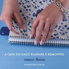 A Capa é Removível… mude o look do seu Daily Planner. Veja as lindas estampas em nosso site. Compre online - www.paperview.com.br #meudailyplanner #planner2016 #dailyplanner #loveplanner #organização #decor