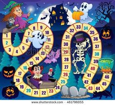 Board Game Pet Mats for Food and Water by Lunarable, Halloween Theme Symbols Happy Witch Girl Vampire Ghost Pumpkins Happy Comic, Rectangle Non-Slip Rubber Mat for Dogs and Cats, Multicolor >>> See this great product. (This is an affiliate link) Preschool Board Games, Activities For Kids, Halloween Games, Fall Halloween, Happy Comics, Board Game Themes, Vip Kid, Disney Games, Ghost Pumpkin