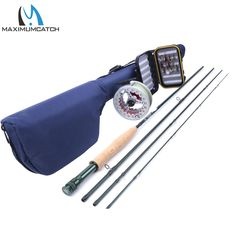 Maximumcatch 8WT 9FT Fly Rod And Reel Combo Aluminum Pre-Spooled Fly Reel Fishing Box With Fly Flies