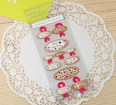 Gift Stickers - Deco Stickers - Lace Stickers - For You(Rose Ribbon Style)