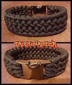 Black narrow Conquistador bracelet with black buckle