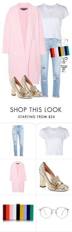 """""""Lovely"""" by staydiva ❤ liked on Polyvore featuring Paige Denim, RE/DONE, Rochas, Gucci, Milly and Ettika"""