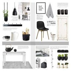 """Cozy Kitchen"" by c-silla ❤ liked on Polyvore featuring interior, interiors, interior design, home, home decor, interior decorating, Authentics, abcDNA, Serena & Lily and Marimekko"