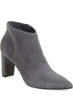 17af65c05758 Ankle boot in black leather or grey suede Ivanka Trump  Lettie  Pointy Toe  Bootie