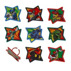 24 Power Rangers Dino Charge Cupcake Ring *** Read more reviews of the product by visiting the link on the image.