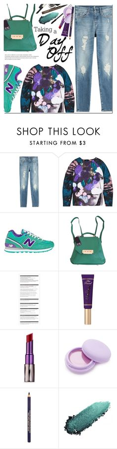 """""""Weekend"""" by bibibaubau ❤ liked on Polyvore featuring 7 For All Mankind, MSGM, New Balance, Zac Posen, Arche, Too Faced Cosmetics, Urban Decay, Forever 21, Estée Lauder and Chantecaille"""