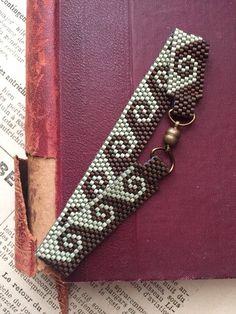 Wave design beaded bracelet Peyote stitch Miyuki Delica seed | Etsy