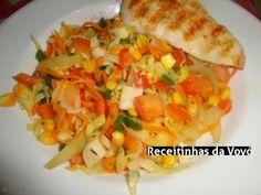 Receita Salada Tropical light