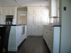 Custom white traditional kitchens by Wesley Ellen Design & Millwork, Vancouver, BC
