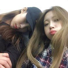 Ulzzang Korean Girl, Ulzzang Couple, Cute Young Girl, Cute Girls, Yoon Ara, Best Friend Couples, Emo, Korean Best Friends, Cute Lesbian Couples