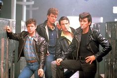 The T Birds from Grease 2. So unfanciable but so wonderful. Mr Johnny Nogarelli!