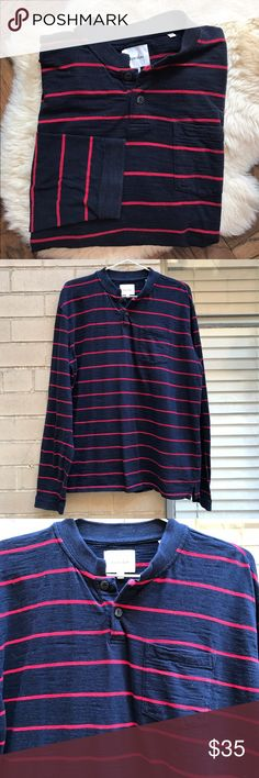 Steven Alan Striped Henley Men's Classic and simple. The style, comfort and quality you expect from Steven Alan. In excellent condition with no issues. Steven Alan Shirts Tees - Long Sleeve