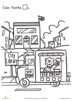Worksheets: Shape Search: Ice Cream!