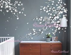 Nursery Wall Decal Wall Sticker Blossoms Tree by DreamKidsDecal