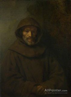 A Franciscan Friar Artwork By Rembrandt Van Rijn Oil Painting & Art Prints On Canvas For Sale Rembrandt Self Portrait, Rembrandt Paintings, Oil Paintings, Rembrandt Art, Art Occidental, Baroque Painting, Sir Anthony, Dutch Painters, Catholic Art
