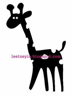 SIMPLE GIRAFFE OUTLINE | most of the ppl feel that the patches make it looks like kena makan by ...