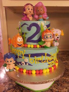 Bubble Guppies birthday cake.