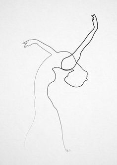 One line Dancer Art Print