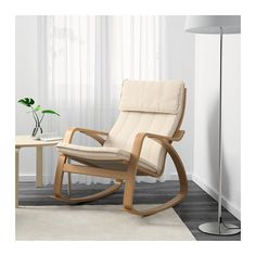 POÄNG Rocking-chair Oak veneer/ransta natural  - IKEA