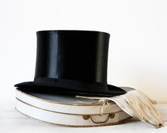 Oh-so dapper. Gorgeous FRENCH collapsible Silk OPERA Top HAT in by RueDesLouves, $155.00
