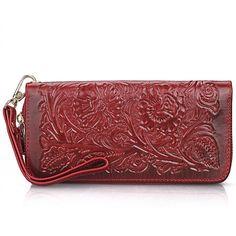 32.30$  Buy here - https://alitems.com/g/1e8d114494b01f4c715516525dc3e8/?i=5&ulp=https%3A%2F%2Fwww.aliexpress.com%2Fitem%2F2016-Hand-made-Vintage-Fashion-Carved-Flower-Women-Genuine-Leather-Cowhide-Long-Wallet-Card-Money-Holder%2F32605007814.html - 2016 Hand-made Vintage Fashion Carved Flower Women Genuine Leather Cowhide Long Wallet Card Money Holder Clutch Purse Wallets