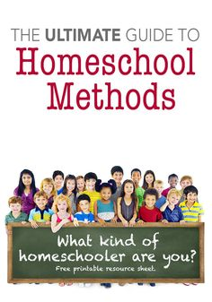 The Ultimate Guide to Homeschool Methods  Apparently, I am an Unschooler when it comes to Z and R... -Mandy