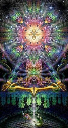 Backdrop Dream Centauri Wandbehang x Hippie Goa Tuch Psy Art Kunst Psychedelic Art, Psy Art, Alex Grey, Mystique, Visionary Art, Fractal Art, Sacred Geometry, Fantasy Art, Artist