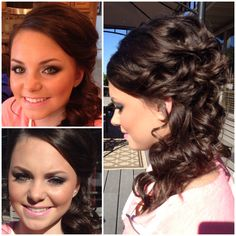 Homecoming hair and makeup.  Side messy updo