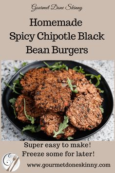 Gourmet Recipes Made Skinnier. Burger Recipes, Gourmet Recipes, Vegetarian Recipes, Cooking Recipes, Healthy Recipes, Mexican Recipes, Cayenne Pepper Recipes, Hot Dogs, Chipotle Black Beans