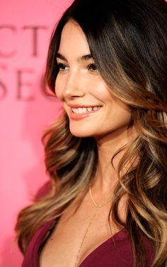 Ombre Hair Lookbook: Lily Aldridge wearing Ombre Hair (16 of 23). Lily paired her sexy frock with lush ombre waves.