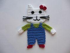 Häkelapplikationen - Kätzchen Sandy - Häkelapplikation