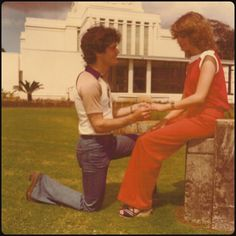 Donny Osmond with future wife, Debbie.