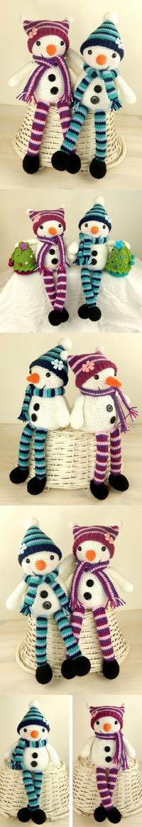 Mr And Mrs Snow Amigurumi Pattern