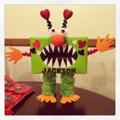 Pokemon Valentines Box, Homemade Valentine Boxes, Valentine Boxes For School, Unicorn Valentine, Valentines For Boys, Valentine Crafts, Monster Crafts, Origami, Fun Crafts For Kids