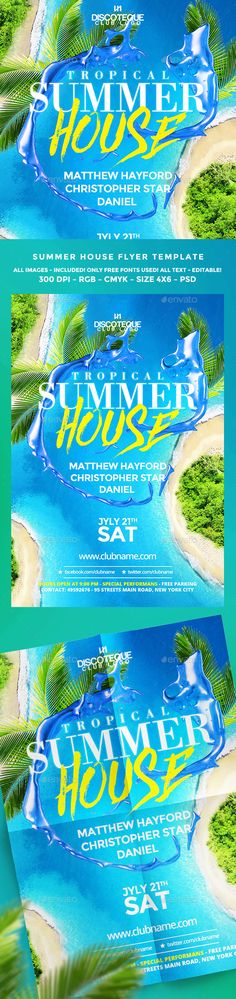 Summer Flyer Template PSD. Download here: https://graphicriver.net/item/summer-flyer/16983102?ref=ksioks