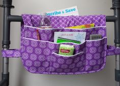 Purple Passion Walker Bag Walker Bags Walker by CraftyWanda
