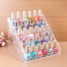 MyBeautyworld24 Nagellackständer Acrylständer Nagellack Lippenstiftständer Aufbewahrung von ca. 60 Nagellackflaschen Nagellackdisplay: Amazon.de: Parfümerie & Kosmetik
