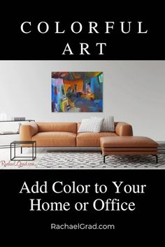 Colorful Art: Add Color to Your Home Office by Artist Rachael Grad. Art prints and original artwork with worldwide shipping Studio Interior, Interior Paint, Wall Art Prints, Fine Art Prints, Frame Store, New York Studio, New York Art, Great Paintings, Canadian Artists
