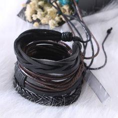 2018 Pulseira Masculina Jewelry Bracelets For Men Leather Bracelets Charm Bileklik Pulseiras Boyfriend Girlfriend Mens Bracelets Bracelets For Boyfriend, Bracelets For Men, Handmade Bracelets, Bangle Bracelets, Leather Bracelets, Bangles, Fashion Bracelets, Leather Wristbands, Viking Jewelry
