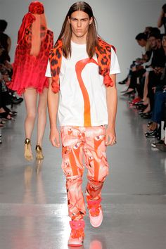 Lovely flamingo pants! But what I really want is what that chick behind you is wearing.