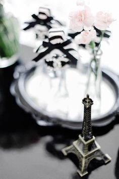 Eiffel Tower Decor Piece from a Chanel Inspired Birthday Party via Kara's Party Ideas | KarasPartyIdeas.com (22)